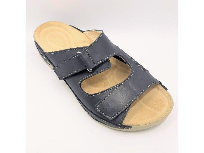 Dámské pantofle pro širší nohy Ortoplus 1581 modré