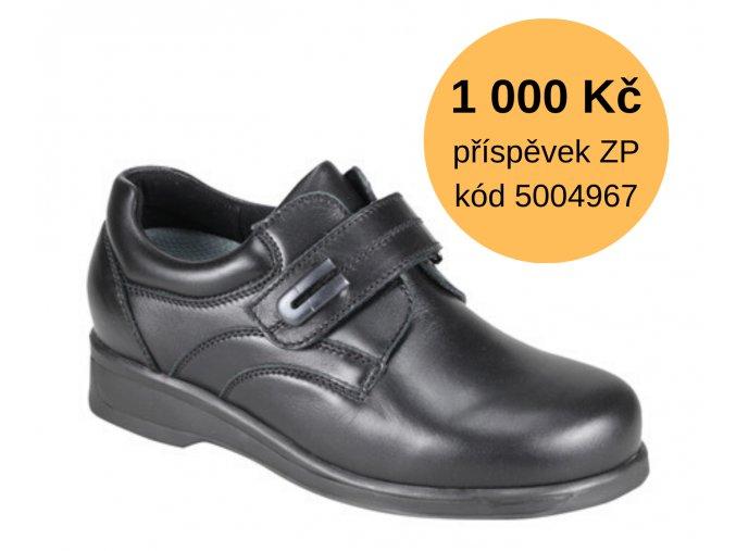 Diabetická obuv DENISA MEDI černá