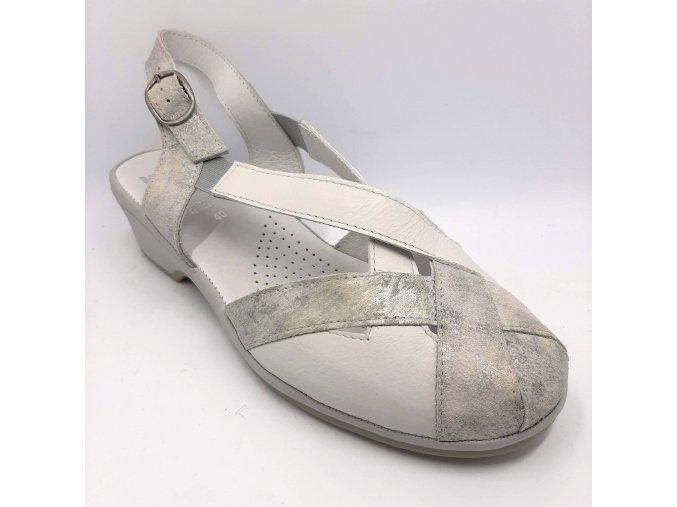 Dámské sandály Florett 01808/70 šedobílé