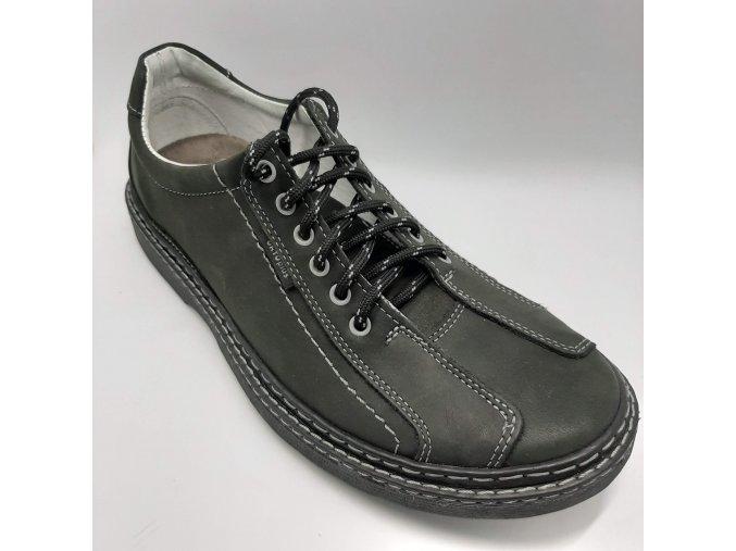 Pánské polobotky pro široké nohy ORTO plus D545-08 černé
