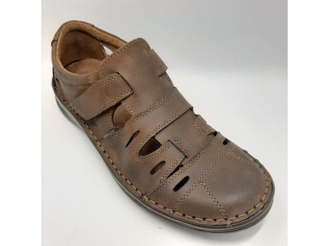 Pánské sandály pro široké nohy ORTO plus D405-11 hnědé