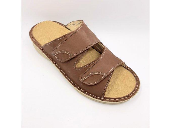 Dámské pantofle se strečem Ortoplus 1400-66 hnědé