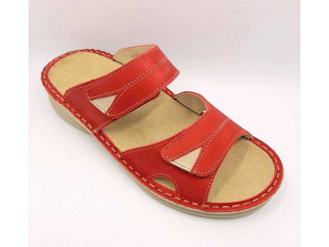 Dámské pantofle pro širší nohy Ortoplus 1402-05 červené