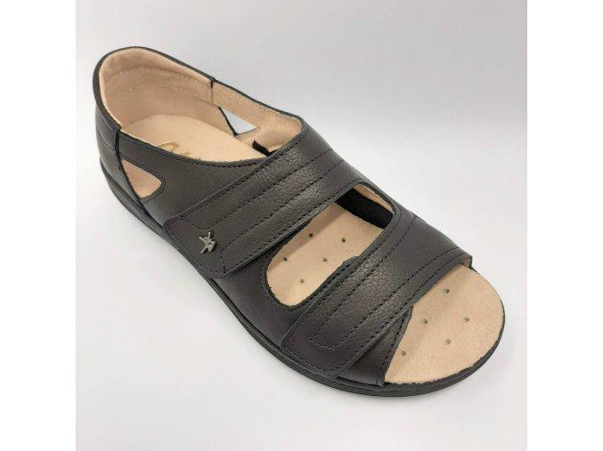 Dámské zdravotní sandály se strečem Carya 4866 černé