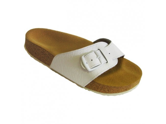 Zdravotní pantofle korkáče Pegres bílé