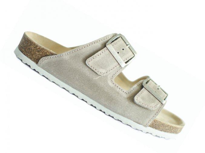 Zdravotní pantofle korkáče Protetika T18 béžové