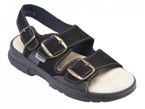 Zdravotní sandály Santé N/517/45/68/CP černé