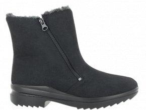 Dámské zimní kotníčkové boty pro širokou nohu Florett Ina 46451 černá
