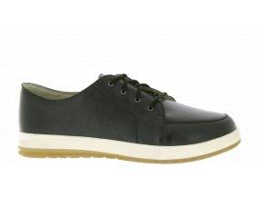 Pánské polobotky pro široké nohy Varomed Boston 82130 černé