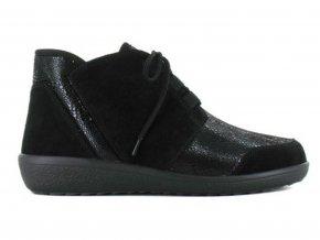 Dámské kotníkové boty pro široké nohy Varomed Perpignan 77341-60 černé