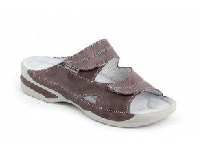 Dámské pantofle Medistyle Lucy 5L-E11 šedo-fialová