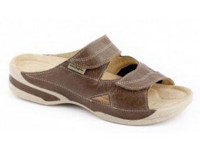Zdravotní pantofle se strečem Medistyle Lucy 5L-E14/H hnědé