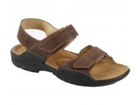 Zdravotní sandály Medistyle Karel 2K-M24 hnědé