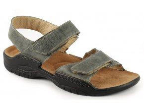 Zdravotní sandály Medistyle Karel 2K-M26/1 šedé
