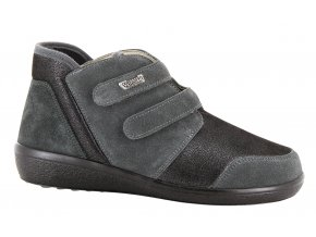 Kotníčkové boty pro široké nohy Varomed Lyon 77351 tmavě šedá
