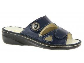 Dámské pantofle pro široké nohy Varomed Ischia 79771 modré