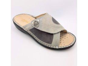 Dámské pantofle Rega B142 šedé