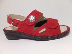 Dámské sandály se strečem Varomed Isabell 06325-01 červené