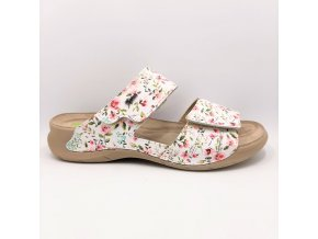 Dámské pantofle Peon PE/4150-54F bílá+květ