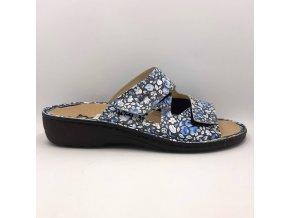 Dámské pantofle Peon PP/120-3F modro-černé