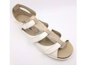Sandály pro široké nohy Varomed Capri 79782-706 bílé