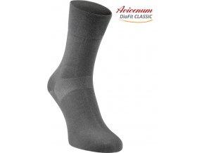 Ponožky pro diabetiky Avicenum DiaFit Classic tmavě šedé
