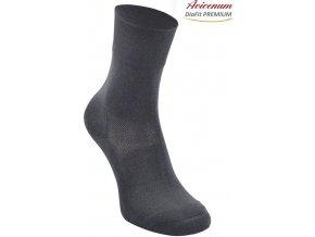 Zateplené ponožky pro diabetiky Avicenum DiaFit Thermo Premium tmavě šedé
