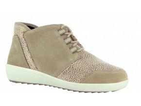 Dámské kotníčkové boty pro široké nohy Varomed Perpignan 77341 béžové