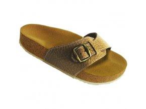 Zdravotní pantofle korkáče Pegres pískové