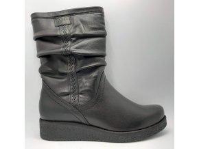 Dámské kozačky pro širší nohy Axel 4055 černé