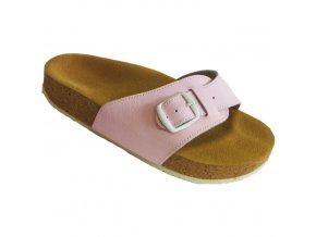 Zdravotní pantofle korkáče Pegres růžové