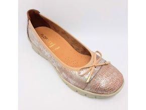 Dámské baleríny pro široké nohy Florett Madleen 03362-05 zlato-růžové