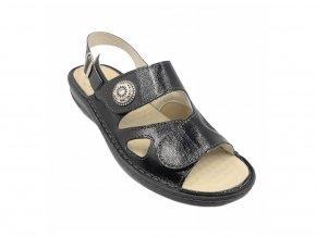 Dámské sandály pro široké nohy Varomed Yvonne 04325 černé