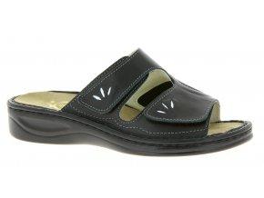 Dámské pantofle pro široké nohy Varomed Mia 04375 černé