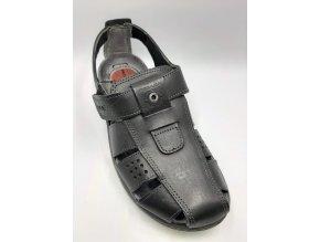 Santé zdravotní sandály Anulina PE/132251-06, černé