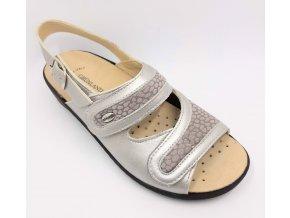 Dámské sandály pro širší nohy Grünland ESTA SE0417-68 šedé