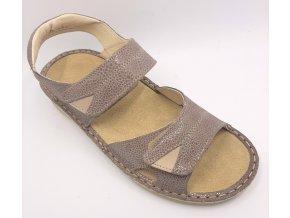 Dámské sandály pro širší nohy Orto plus 1401-R42 hnědé