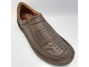 Pánské polobotky pro široké nohy ORTO plus D600/P11 hnědé
