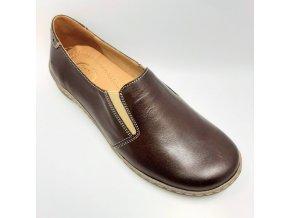 Dámské polobotky pro širší nohy Ortoplus 538-330 hnědé