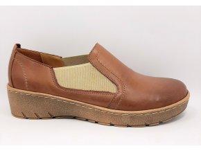 Dámské polobotky pro širší nohy Ortoplus 1450-141 hnědé