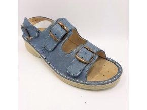 Dámské sandály pro širší nohy Ortoplus 05-501 modré