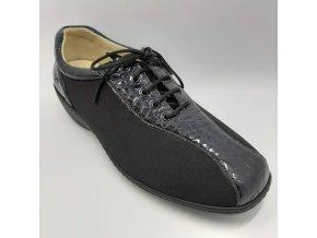 Strečová obuv pro širší nohy Varomed Hanna 03253/625 černá s tmavě modrou