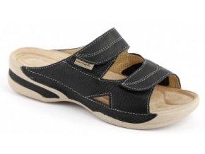Zdravotní pantofle se strečem Medistyle Lucy černé