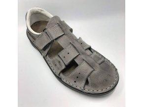 Pánské sandály pro široké nohy ORTO plus D407-22 šedé