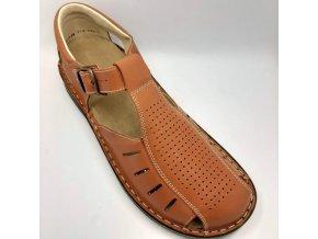 Pánské sandály pro široké nohy ORTO plus 08-839-081 hnědé
