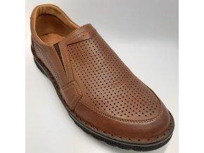 Pánské polobotky pro široké nohy ORTO plus S1465-003 hnědé