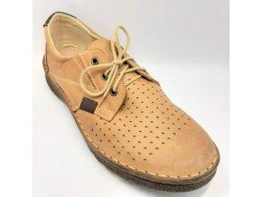 Pánské polobotky pro široké nohy ORTO plus S1461-334 hnědé