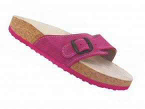 Zdravotní pantofle korkáče T05 růžové