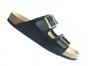 Zdravotní pantofle korkáče Protetika T18 černé