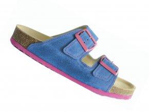Zdravotní pantofle korkáče Protetika T18 modro-růžové